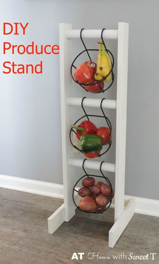 diy produce stand for the kitchen, how to, organizing, repurposing upcycling, storage ideas, woodworking projects