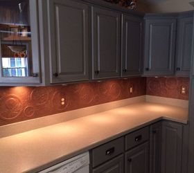 Diy Kitchen Copper Backsplash, Decoupage, Kitchen Backsplash, Kitchen  Design, Repurposing Upcycling,