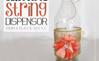 beautiful string dispenser from a soda bottle, crafts, how to, repurposing upcycling