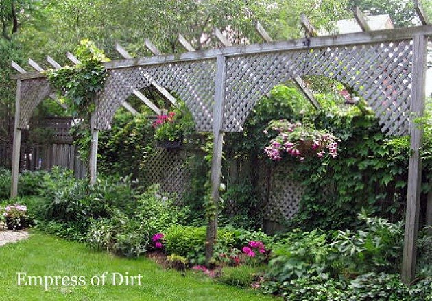 Photo via Melissa @[url=http://empressofdirt.net/fence-not-high-enough-heres-some-privacy-ideas/]Empress of Dirt[/url]