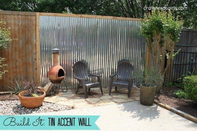 Photo via Samantha @[url=http://www.craftytexasgirls.com/2013/04/build-it-tin-accent-wall.html]Crafty Texas Girls[/url]