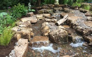lincolnshire il pond and patio installation by gem ponds, landscape, patio, ponds water features, A perfect addition to any outdoor space