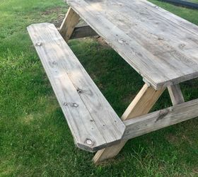Elegant Wooden Picnic Table Makeover, Outdoor Furniture, Outdoor Living, Painted  Furniture