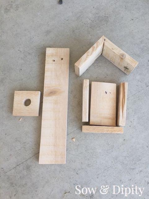 diy bird feeder made from pallet wood, crafts, gardening, how to, pallet