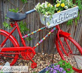 Repurposed Garden Bike, Container Gardening, Gardening, Repurposing  Upcycling