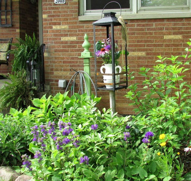 Trash To Treasure Repurposing A Broken Lantern Into Garden Art Container Gardening Flowers