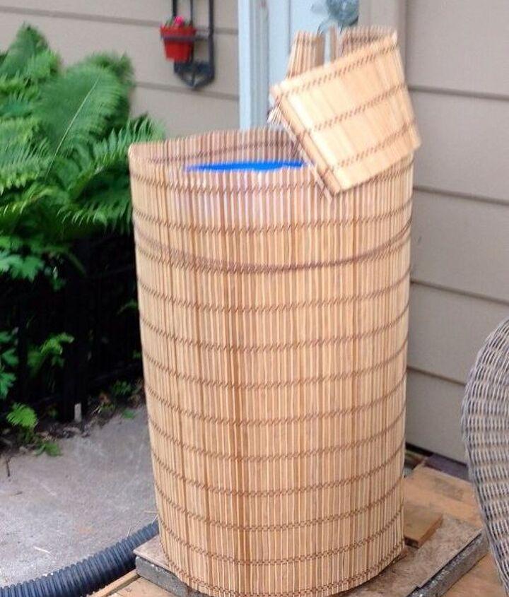 how to make an ugly rain barrel beautiful, gardening, outdoor living, repurposing upcycling