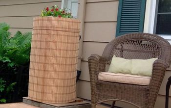 how to make an ugly rain barrel beautiful, gardening, outdoor living, repurposing upcycling