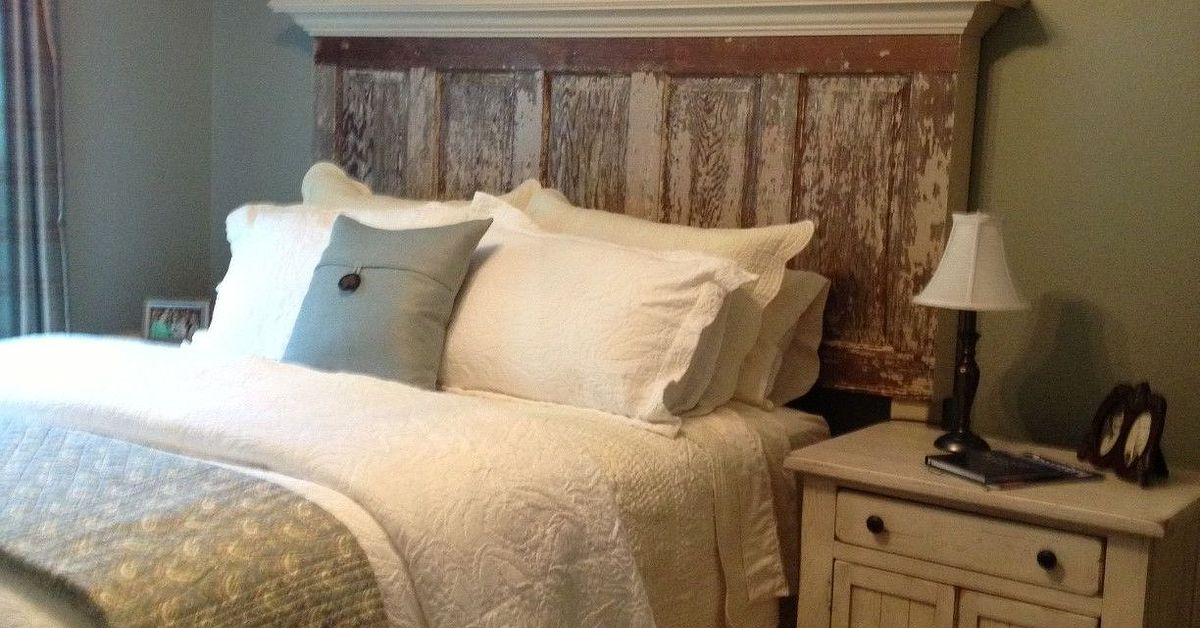 90 Year Old Door Made Into A Headboard Hometalk