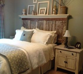 Headboard Decorating Ideas Part - 35: 90 Year Old Door Made Into A Headboard, Bedroom Ideas, Doors, Painted  Furniture