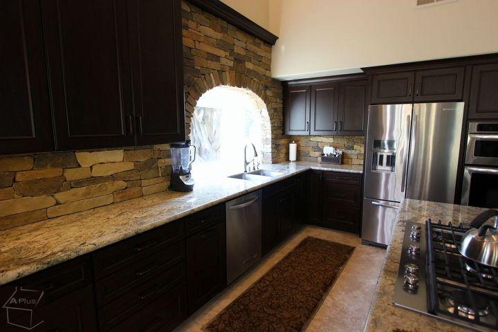 yorba linda traditional kitchen remodel with brick layer backsplash, concrete masonry, home improvement, kitchen backsplash, kitchen design