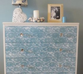 How To Update An Old Piece Of Furniture Using Lace And Spray Paint, How To