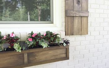 how to build a window box, container gardening, curb appeal, gardening, how to, woodworking projects