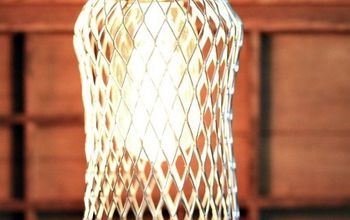 how to make an farmhouse industrial cage for your light, diy, electrical, how to, lighting