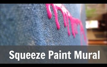 squeeze paint mural, how to, painting, wall decor