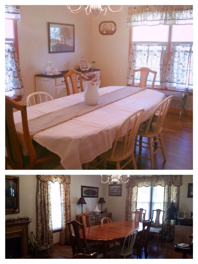 chalk paint before and after dining room hometalk