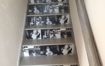 marilyn monroe staircase, how to, repurposing upcycling, stairs, wall decor, I love my new stairs
