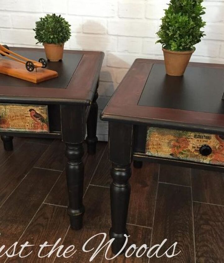 shabby black table makeover, painted furniture, shabby chic
