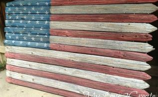 7 homemade american flags that will make your chest swell with pride, crafts, fences, outdoor living, pallet, patriotic decor ideas, repurposing upcycling, seasonal holiday decor, Photo via Mindi My Love 2 Create