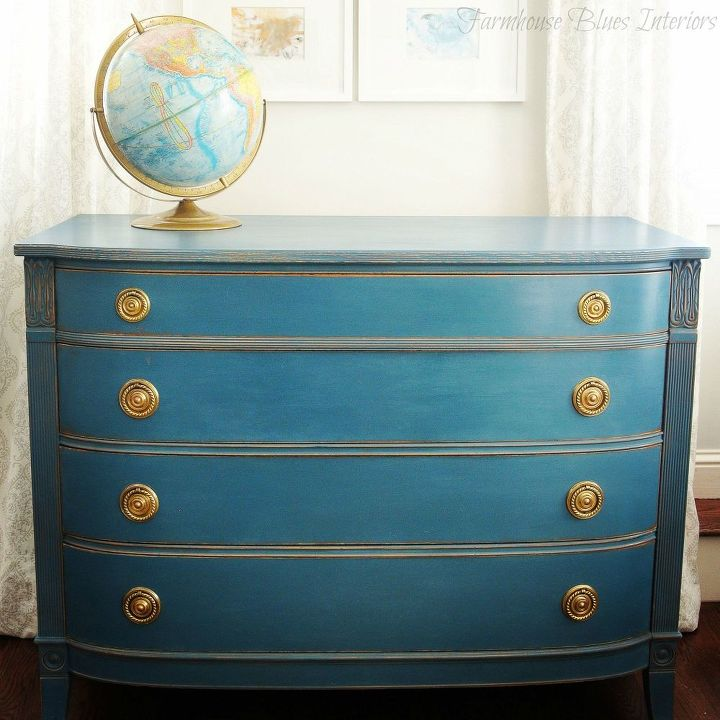 blue painted dresser hometalk