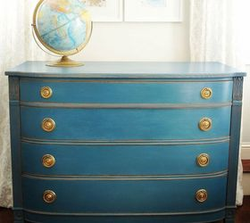 Blue Painted Dresser, Chalk Paint, Painted Furniture