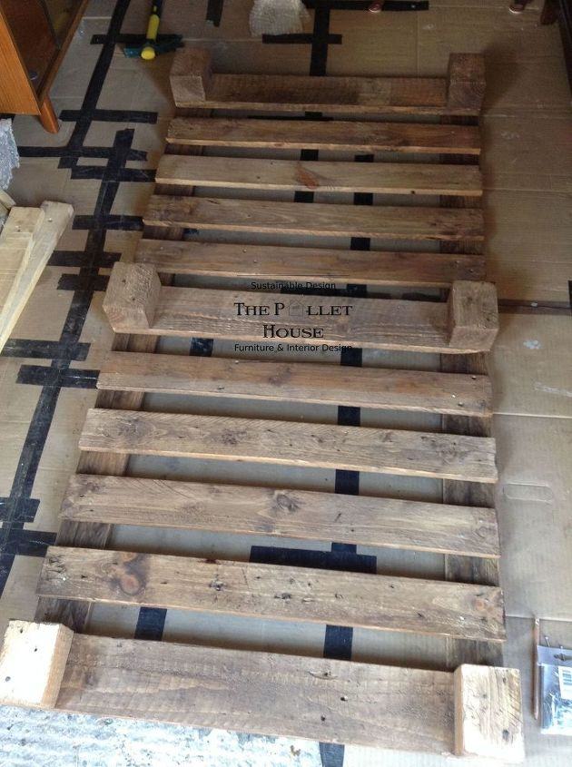 dining room table made from pallets | Dining Room Table Made of Salvage Pallet | Hometalk