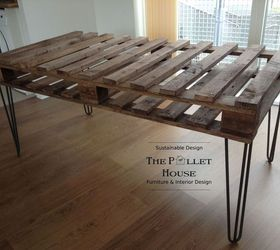 Dining Room Table Made Of Salvage Pallet, Diy, How To, Painted Furniture,
