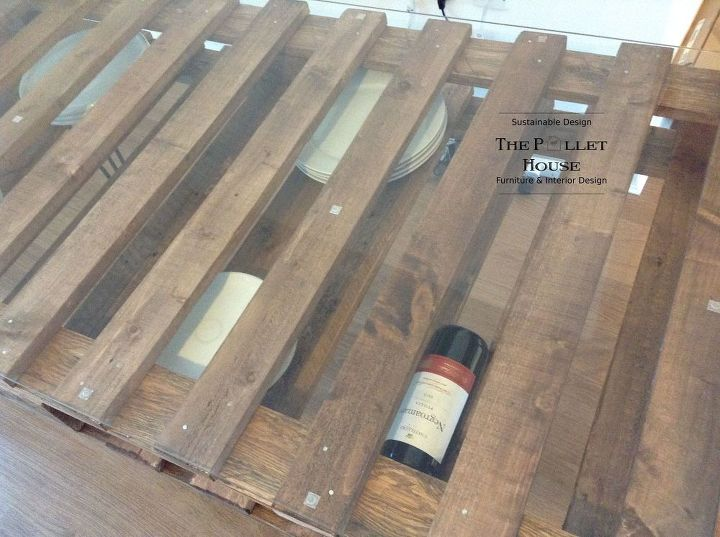 dining room table made of salvage pallet, diy, how to, painted furniture, pallet, repurposing upcycling