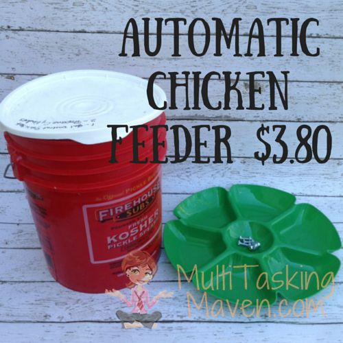 how to make an automatic chicken feeder for less than 4 00, homesteading, how to, outdoor living