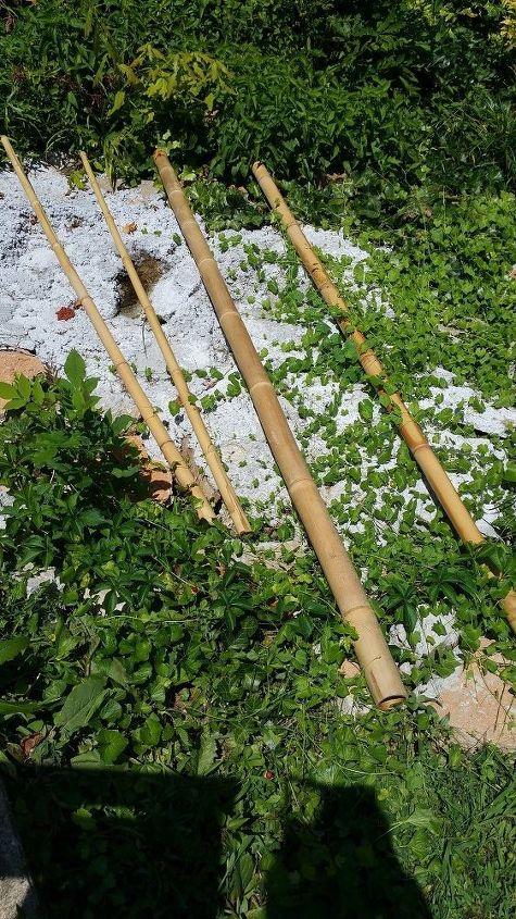 q repurposing bamboo poles, repurposing upcycling