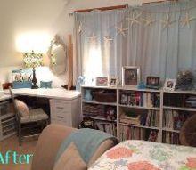 guest room art studio makeover, bedroom ideas, craft rooms