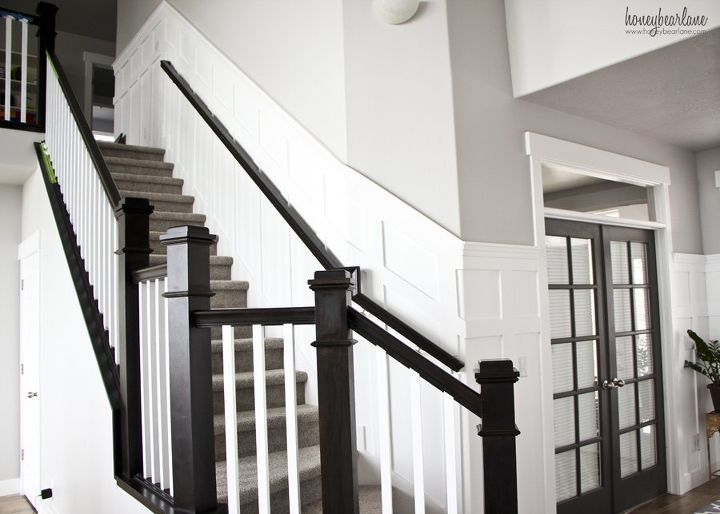 Stairway Wainscoting Stairs Wall Decor Woodworking Projects