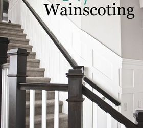 Stairway Wainscoting, Stairs, Wall Decor, Woodworking Projects