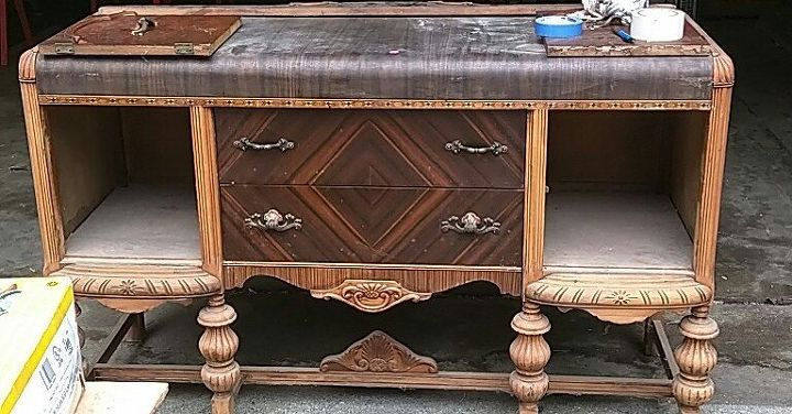 Upcycled Antique Buffet Hometalk
