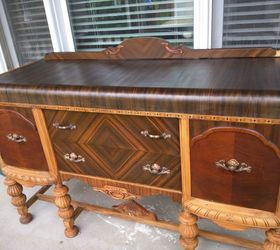 Upcycled Antique Buffet, Painted Furniture, Repurposing Upcycling
