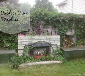 Garden Faux Fireplace Hometalk