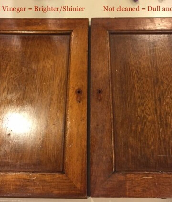Plain front door. Left is oiled not the right