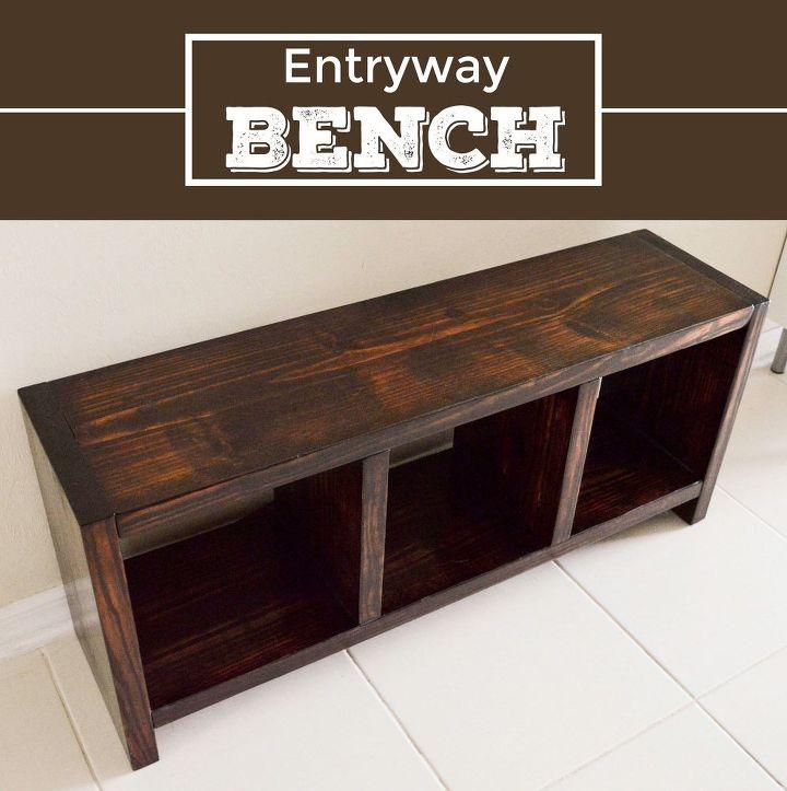 Foyer Entry Questions : Diy entryway bench hometalk