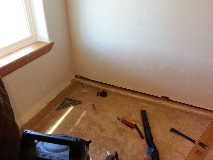 q basement foundation settling, basement ideas, home improvement, home maintenance repairs, took baseboard trim off to repair
