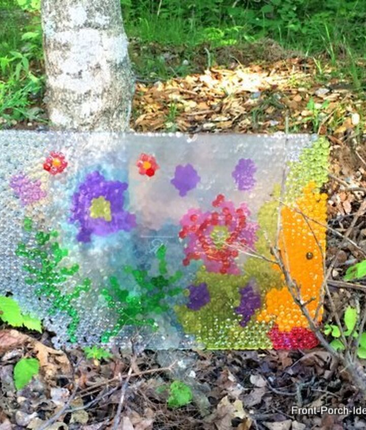 Diy Bead Project Turned Cool Garden Art Hometalk
