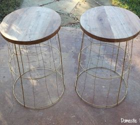 Repurposed Tomato Cages To Rustic Tables, How To, Painted Furniture,  Repurposing Upcycling,