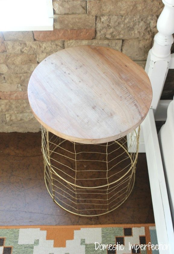 Repurposed Tomato Cages To Rustic Tables Hometalk