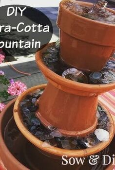 diy terra cotta fountain, diy, gardening, how to, ponds water features, repurposing upcycling