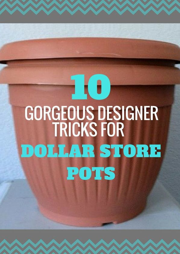 how to upcycle cheap flower pots, container gardening, crafts, gardening,  Share these