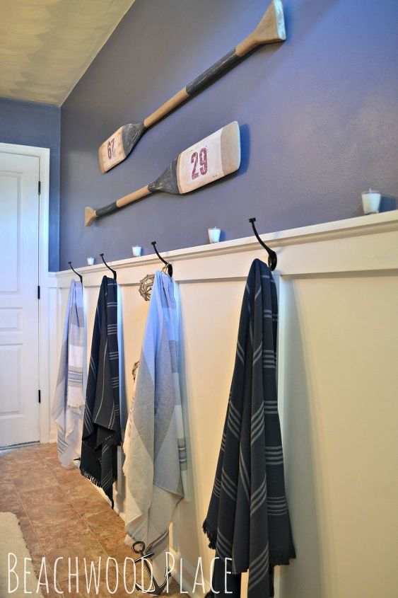 nautical bathroom decor, bathroom ideas, repurposing upcycling, wall decor