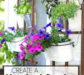 Make A Vertical Garden In 3 Easy Steps, Container Gardening, Flowers,  Gardening