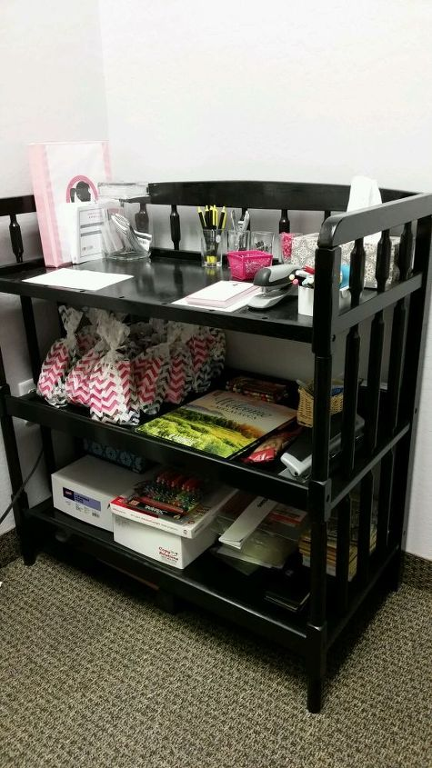 diy humdrum changing table to chic storage unit, painted furniture, repurposing upcycling, storage ideas
