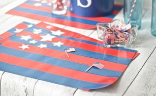 patriotic duct tape placemats, crafts, dining room ideas, how to, patriotic decor ideas, repurposing upcycling, seasonal holiday decor