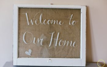 diy old window sign, crafts, how to, repurposing upcycling, windows