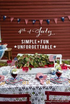 4th of july party ideas, crafts, outdoor living, patriotic decor ideas, seasonal holiday decor